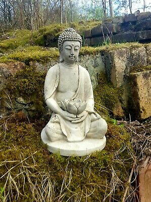 ANTIQUE BUDDHA STATUE Stone Garden Ornament Decor