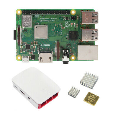 Raspberry Pi 3 B+ (B Plus) with Official case and Heat sink