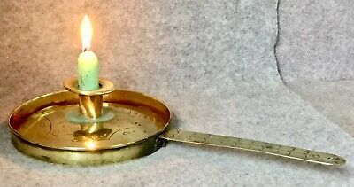 Antique Arts and Crafts Brass Chamber Stick Victorian Candle Stick