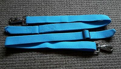 Sky Blue x 2 Leg Straps Stable//Turnout rug.Trigger clip and loop a pair BN!!