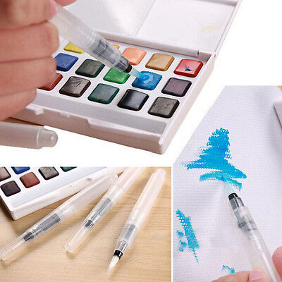 Refillable 3 Pcs/set Water Brush Ink Pen Water Color Calligraphy Kid Painting