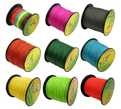 10 Color 1000M Multifilament Spectra Braided 4 Strands Sea Testing Fishing Line