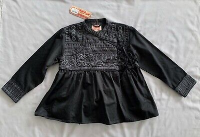Nwt Gum Girls 'Gala' Black Wrap Embroidery Detail Jacket Sz 14 $89.95 Pavement