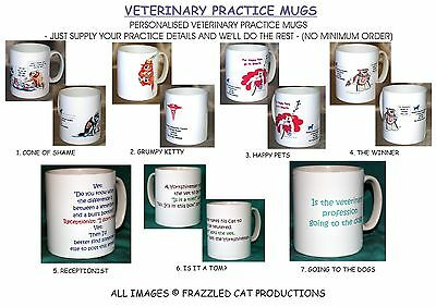 Veterinary Joke Mugs.personalised With Your Practice Details.7  Designs.new.bnib