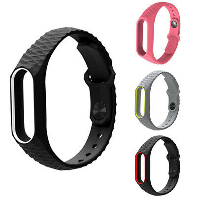 For Xiaomi Mi Band2 3 Adjustable Bangle Soft Silicone Strap Wristband Bracelets