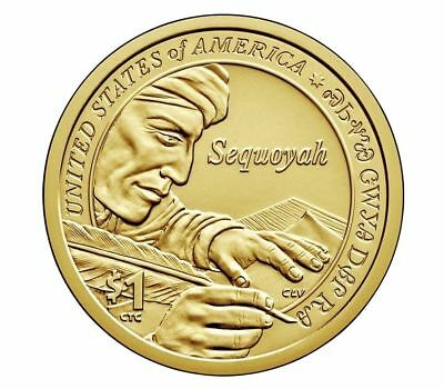 2017 P D SACAGAWEA Native American Dollar - Sequoyah