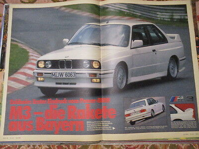 Poster 2 Pages Auto : Bmw M3 4 Cylindres