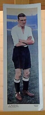 Topical Times large football card 1930s J. Nicholas Derby County FC