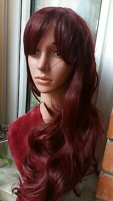 Peluca larga castaño brown woman wig brown wigs