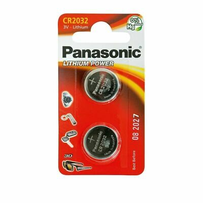 2Pcs Panasonic CR2032 DL2032 3V Lithium-Ion Coin Cell Battery Pack Remote Laptop