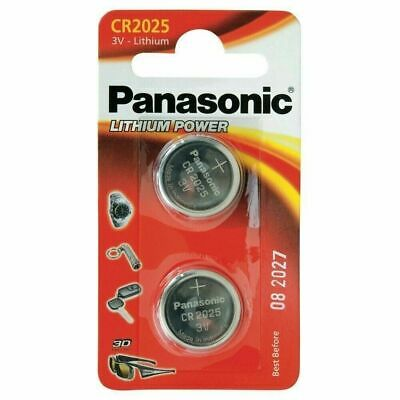2Pcs Panasonic Original CR2025 DL2025 3V Lithium Coin Cell Battery Remote Laptop