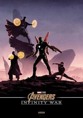 Avengers Infinity War Poster Movie Odeon Cinema Marvel A4