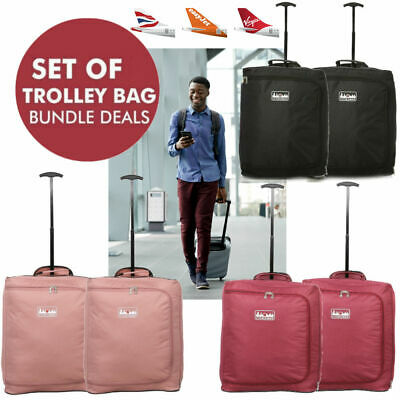 Ryanair Approved 55x40x20 Hand Luggage Trolley Bag Cabin Flight Suitcase EasyJet
