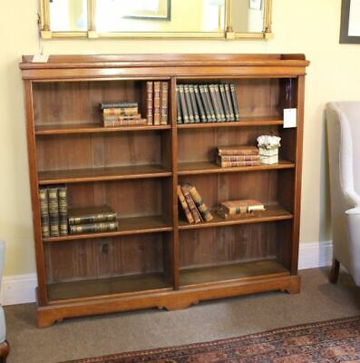 19thc. Antique Open Oak Bookcase in  Three Sections