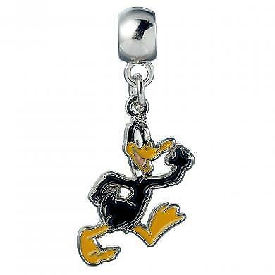 Official Genuine Looney Tunes Silver Plated Daffy Duck Slider Charm-Warner Bros