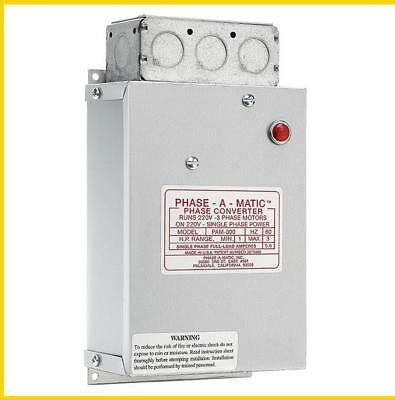 Pam-300    1-3 Hp - 220 Vac - Phase-A-Matic Phase Converter