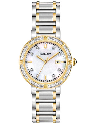 Bulova 98R260 30mm 24 Diamonds Accented Two-Tone Women's Watch