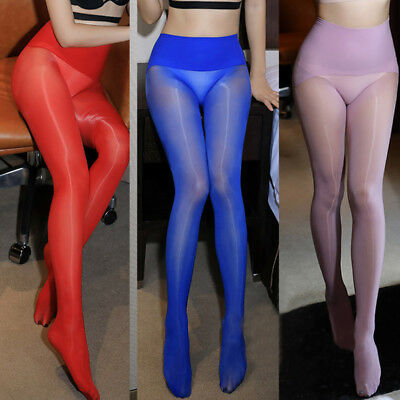 d0c22b8e6ce73 Womens Sexy 360°Seamless Pantyhose High 8D Oil GlossyShiny Tights Body  Stockings