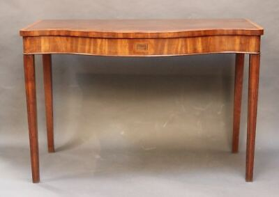 18thc. Mahogany Serving Table or Pier Table with serpentine front