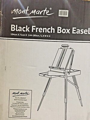 Mont Marte French Box Easels Black Q1 A3