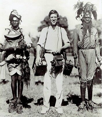 5627a8604aae 1935 Vintage Photo John Nash Ott with Swahili African Tribe Chiefs in  headdress
