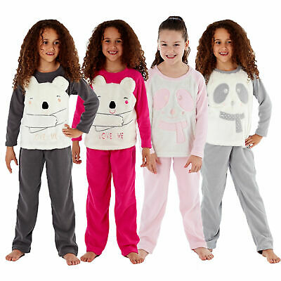 Selena Secrets Girls Cici Love Me Or Scarf Bear Pyjamas Luxury Super Soft PJs