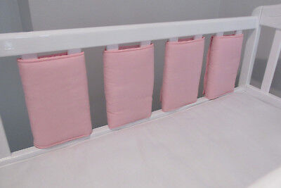 New Babies  💖 Baby Pink Cot bar bumpers 💖 Pack of 4 (Custom made)