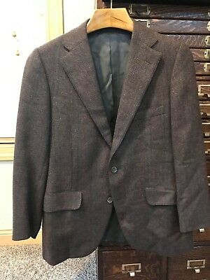 267e9c679d097 Vintage Norman Hilton Wool Sportcoat Jacket Wool 40 S 40S Made in USA Free  Ship
