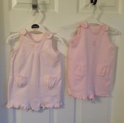 Baby Girls Next Pink 2 X Playsuits - Age 3-6 Months