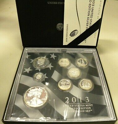 2013 United State Mint  Limited Edition Silver Proof Set   W/ Coa And Box