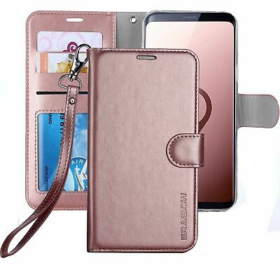 Samsung Galaxy S9 Case Premium PU Leather Wallet Flip Protective Phone Cover NEW