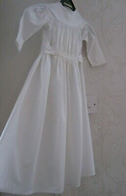 Beautiful Original Antique Vintage Cotton Christening Gown - Adjustable Sizing