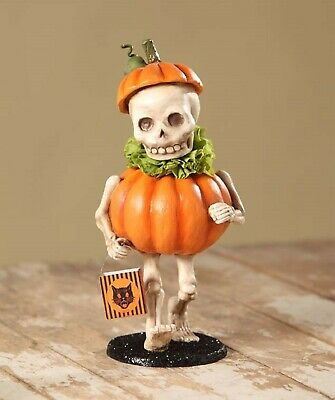 Bethany Lowe Skully's Pumpkin Costume Halloween Skeleton Trick-Or-Treater TD5040