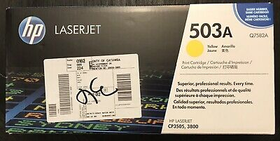 Genuine HP 503A (Q7582A) Yellow Laser Toner Cartridge  New/OEM/Sealed/In-box