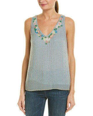 694ce74fde2bd4 FRENCH CONNECTION BEADED Tank Top Sparkly Size 2 S  129 -  29.99 ...