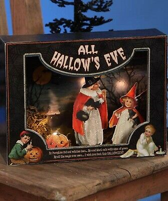 Bethany Lowe All Hallow's Eve Shadowbox SN6610 New Lights Up