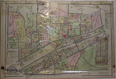 1797 PA MAP Haverford Centralia Bernville Frankford Hopwood Honesdale SURNAMES