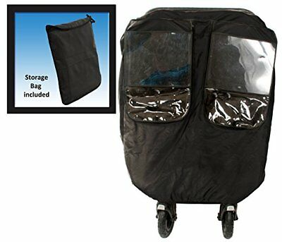 Comfy Baby Universial Deluxe Twin Stroller Weather Protector, Black