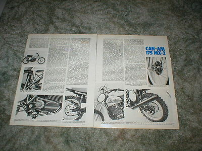 1975 1976  CAN AM 175  MX-2  Cycle Road Test Article  5 pgs  vintage motocross