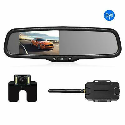 AUTO VOX Wireless Reverse Camera Kit Car w Waterproof Rear View Mirror Monitor