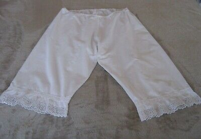 Pretty Antique Vintage Ladies Cotton Bloomers Pantaloons Drawers with Lace Trims