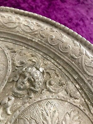 Antique Solid Pewter Art Nouveau goblet/tumbler server.