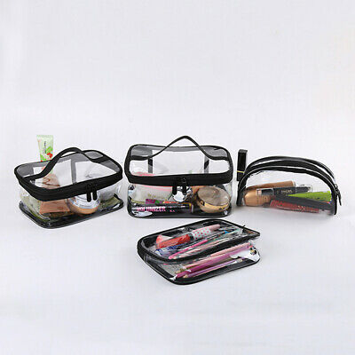 Clear Cosmetic Makeup Bag Transparent See Through Toiletry Travel Organizer Bags
