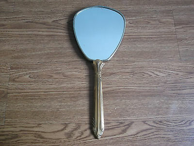 Rare old vintage beautiful big size brass, hand mirror of 60's...