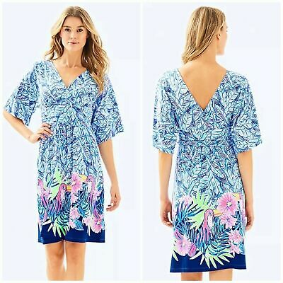 ffadc51c09e New Lilly Pulitzer Parigi Dress Bennet Blue Lets Mango Dress SZ M RETAIL   178.00