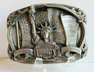 Vintage 1985 Statue of Liberty Belt Buckle The Flame of Freedom K-42 Pewter