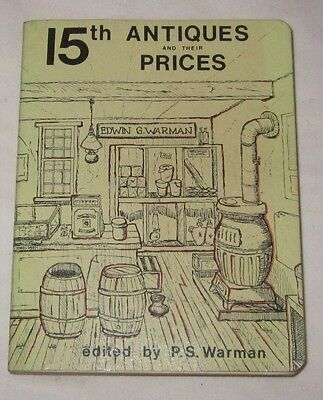 15th Antiques and their Prices PS Warman paperback book