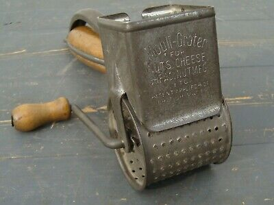 Rare Antique VINTAGE Mouli Grater Early Wooden Handles ~ British Made ~ Downton