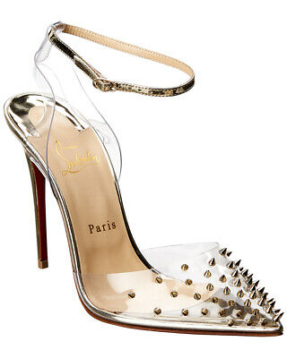 great fit 20264 f004a CHRISTIAN LOUBOUTIN SPIKOO 120 Studded Leather Pump