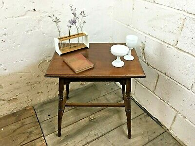 Antique Victorian Mahogany Side Hall Occasional Lamp Table